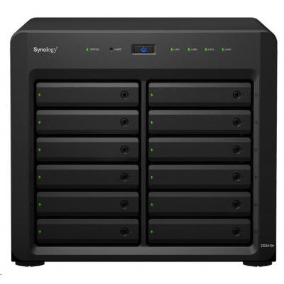 Synology DS2419+ DiskStation (4C/AtomC3538/2,1GHz/4GBRAM/12xSATA/2xUSB3.0/4xGbE/1xPCIe)