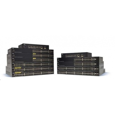 Cisco switch SG350-8PD 6x10/100/1000, 2x2.5GbE, 2xGbE SFP/RJ-45, PoE