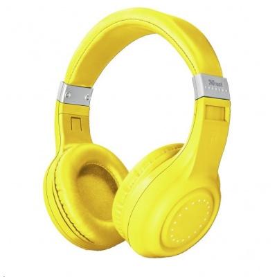 TRUST sluchátka Dura Bluetooth wireless headphones - neon yellow