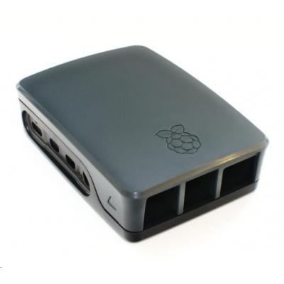 Raspberry Pi 4B - oficiální krabička, černá/šedá