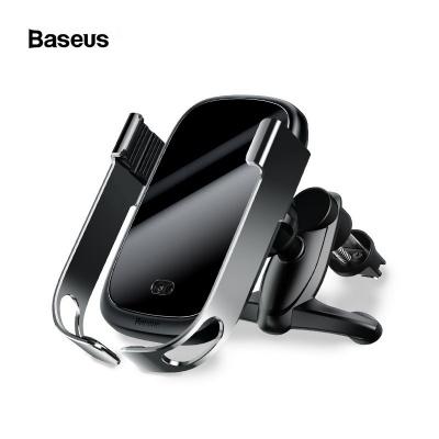 Baseus Rock-Solid držák a bezdrátová nabíječka do auta 10W (do ventilační mřížky), stříbrná