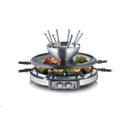 Severin RG 2348 Raclette gril a fondue 2v1