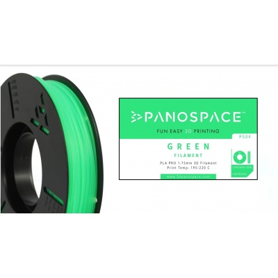 FILAMENT Panospace type: PLA -- 1,75mm, 1000 gram per roll - Zelená