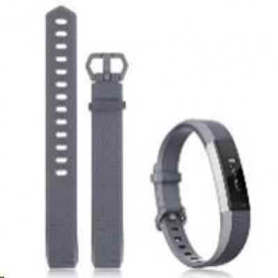eses silikonový řemínek šedý ve velikosti L pro Fitbit Alta HR
