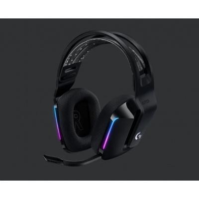 Logitech herní sluchátka G733, LIGHTSPEED Wireless RGB Gaming Headset, EMEA, black