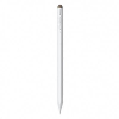 Baseus Smooth kapacitní stylus (aktivní & pasivní verze) bílá + Type-C kabel 0,5m