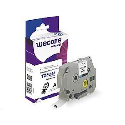 WECARE ARMOR páska pro BROTHER TZE-241(TZE241), černá/bílá, 18mm x 8m