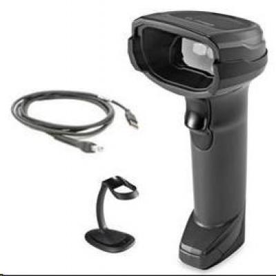 Zebra čtečkaDS8108-SR  2D black, USB KIT + stojánek