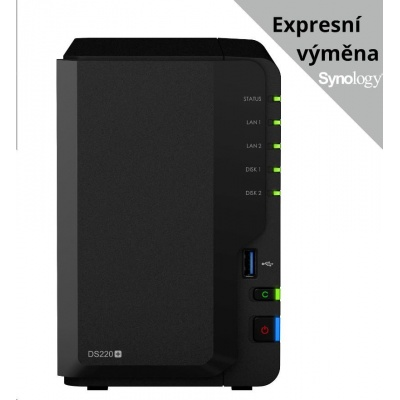 Synology DS220+ DiskStation (2C/CeleronJ4025/2,0-2,9GHz/2GBRAM/2xSATA/2xUSB3.0/2xGbE)