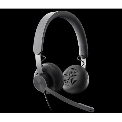 Logitech sluchátka s mikrofonem Zone Wired Teams Headset Graphite - EMEA