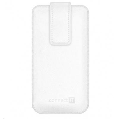 CONNECT IT U-COVER univerzální pouzdro na mobilní telefon, bílá (velikost L)