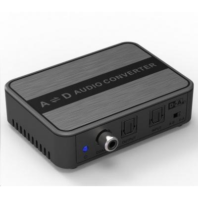 PREMIUMCORD Obousměrný převodník zvuku DIGI-ANALOG a ANALOG-DIGI SPDIF Toslink CINCH stereo jack 3,5mm