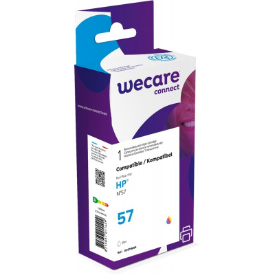 WECARE ARMOR cartridge pro HP Deskjet 450ci, 450cbi, 5150, 5550, 5652, 2175, 2510 ph (C6657A), 3 colors, 21ml, 550str