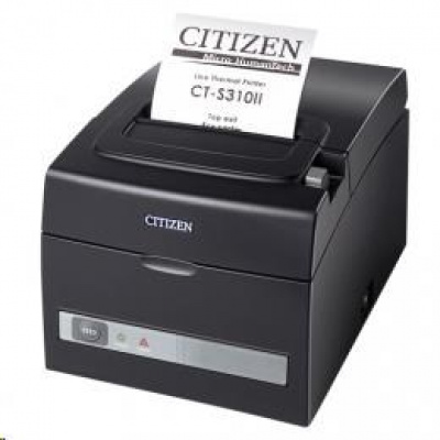 Citizen CT-S310II LAN, Dual-IF, 8 dots/mm (203 dpi), cutter, black