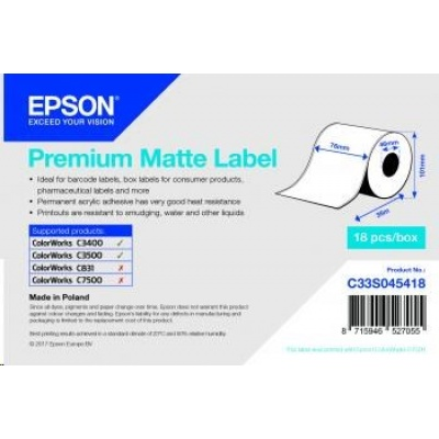 Epson label roll, normal paper, 76mm
