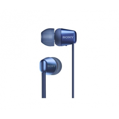 SONY bezdrátová stereo sluchátka WI-C310, modrá