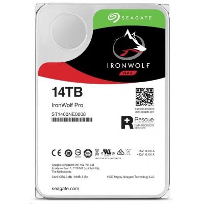 """SEAGATE HDD IRONWOLF PRO (NAS) 3,5"""" - 14TB, SATAIII, ST14000NE0008"""