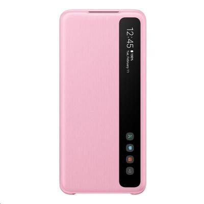 Samsung pouzdro Clear S-View EF-ZG980CPE pro Galaxy S20, růžová