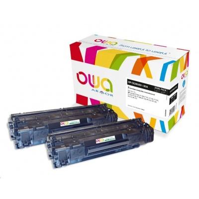 OWA Armor toner pre HP LJ P1002,1100,1102,1103,1104,1106,1108,M1130,1132,1136,1210,1212  2x1600 strán, CE285AD, black