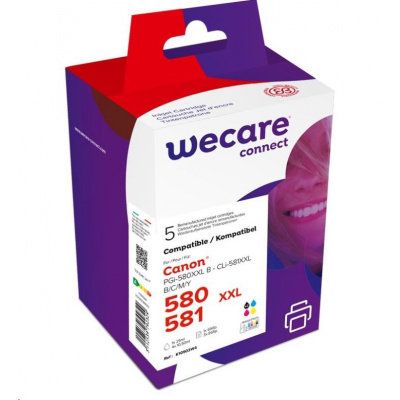 WECARE ARMOR cartridge pro CANON PIXMA TR7550,TR8550,TS6150,TS8150 (K10503W4), černá+CMY,26ml/4x12.2ml