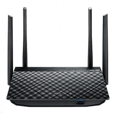 ASUS RT-AC58U v3 Gigabit Dualband Wireless AC1300 Router, 4x gigabit RJ45, 1x USB2.0