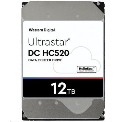 Western Digital Ultrastar® HDD 12TB (HUH721212ALE600) DC HC520 3.5in 26.1MM 256MB 7200RPM SATA 512E ISE P3