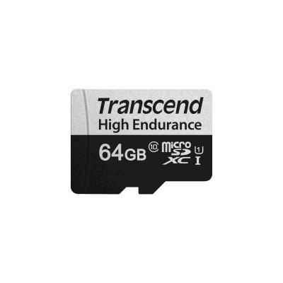 TRANSCEND MicroSDXC karta 64GB 350V, High Endurance