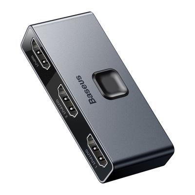 Baseus Matrix HDMI Splitter 2v1 / 1v2 šedá