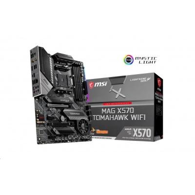 MSI MB Sc AM4 MAG X570 TOMAHAWK WIFI, AMD X570, VGA, 4xDDR4, WI-Fi