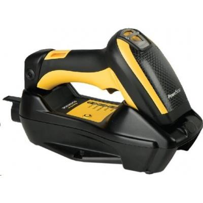 Datalogic PowerScan PBT9500, BT, 2D, SR, kit (USB), RB, black, žlutá