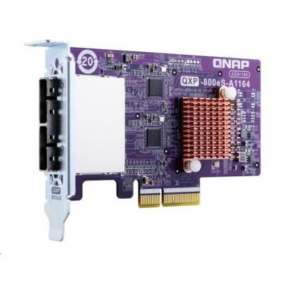 QNAP QXP-800eS Rozšiřující úložná karta SATA 6Gb/s, 2x SFF-8088 (až 8x HDD)