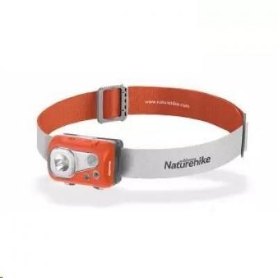 Naturehike LED čelovka voděodolná, USB nabíjení 82g - oranžová