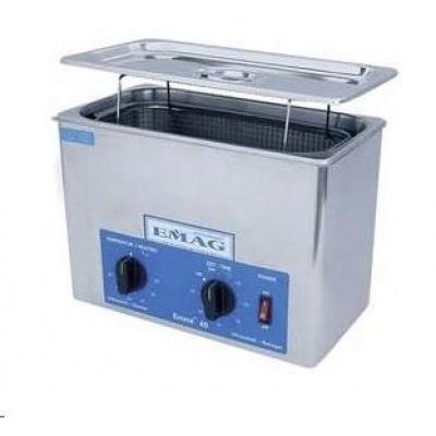 CONRAD Ultrazvuková čistička Emag EMMI 30HC, 3 l, 200 W, 240 x 135 x 100 mm, nerez