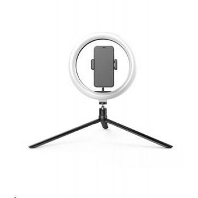 4smarts stativ pro telefony Tripod s LED osvětlením, 19 cm, černá
