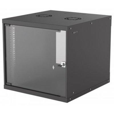 """Intellinet 19"""" BASIC rozvádzač 9U/560mm, čierny, rozložený flatpack"""