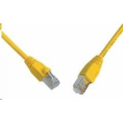 Solarix Patch kabel CAT5E SFTP PVC 7m žlutý snag-proof C5E-315YE-7MB