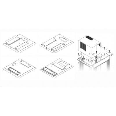 TRITON montážní redukce ke klimatizaci X1 a X2 na šířku rozvaděče 600 x 600 mm, šedá