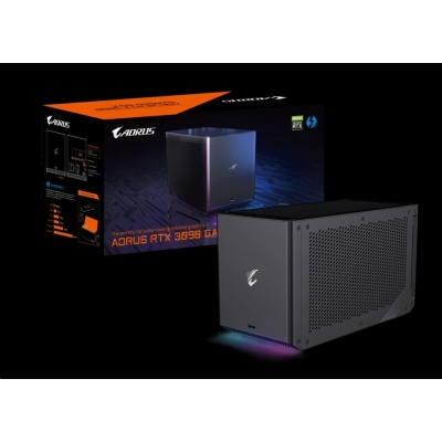 GIGABYTE Externí VGA NVIDIA AORUS RTX 3090 GAMING BOX, RTX 3090, 24GB GDDR6X, 3xDP, 2xHDMI