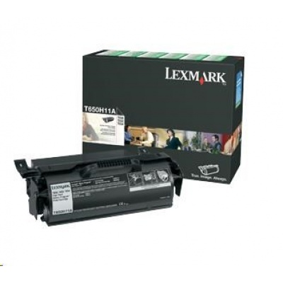 LEXMARK černý toner T650, T652, T654 z programu Lexmark Return