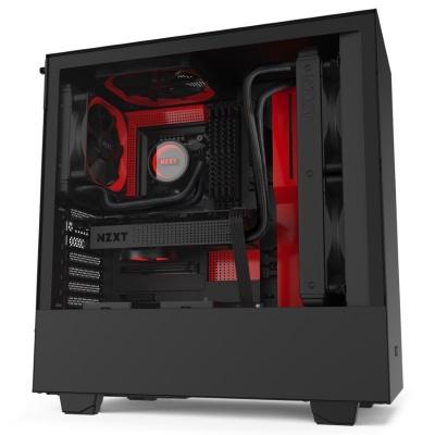 NZXT skříň H510 / ATX / průhledná bočnice / USB 3.0 / USB-C 3.1 / černočervená