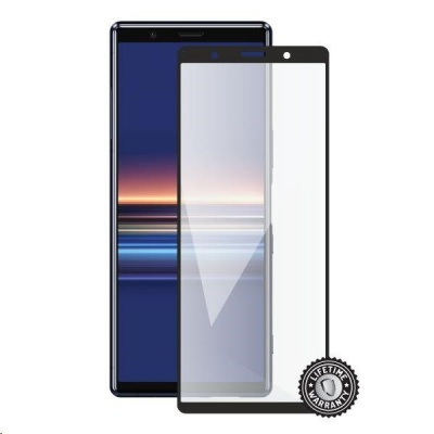 Screenshield ochrana displeje Tempered Glass pro SONY Xperia 5 J9210, full cover, černá