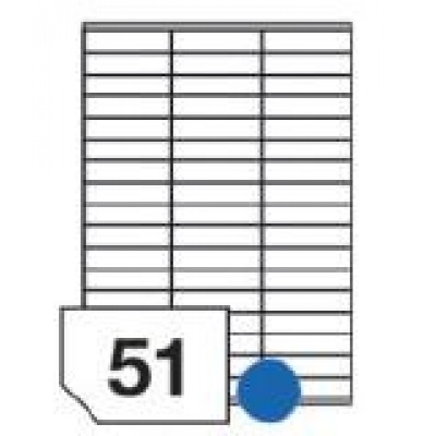 RAYFILM Štítky 70x17,8 univerzálne biele *R01000501F, 1000 listů