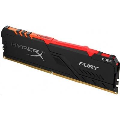 DIMM DDR4 128GB 3200MHz CL16 (Kit of 4) KINGSTON HyperX FURY RGB Black