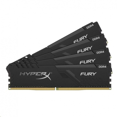 DIMM DDR4 128GB 3000MHz CL16 (Kit of 4) KINGSTON HyperX FURY Black
