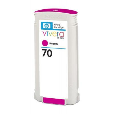 HP 70 Magenta DJ Ink Cart, 130 ml, C9453A