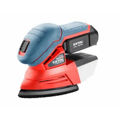 Extol Premium 8891844 bruska vibrační delta aku SHARE20V, 20V Li-ion, 2000mAh