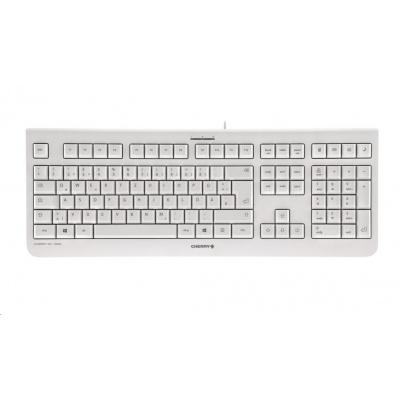 CHERRY klávesnice KC 1000, USB, EU, světle šedá