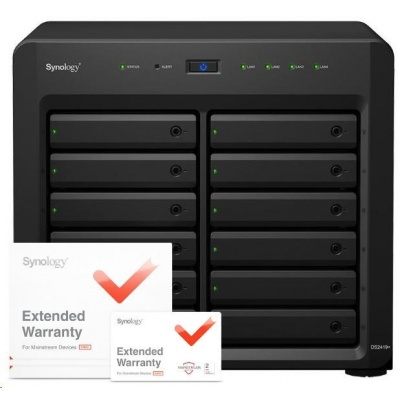 Synology DS2419+ DiskStation (4C/AtomC3538/2,1GHz/4GBRAM/12xSATA/2xUSB3.0/4xGbE/1xPCIe) + záruka 5 let
