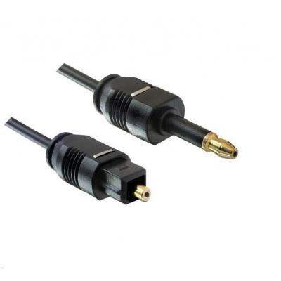 PREMIUMCORD Kabel 3,5mm mini Toslink - Toslink, OD:2.2mm, délka 1m