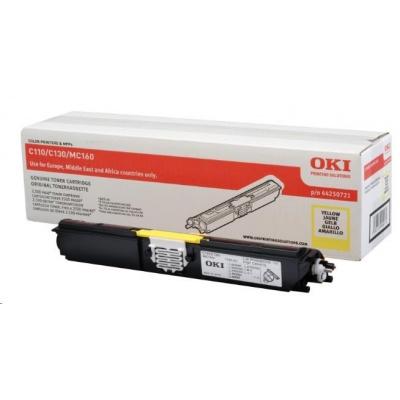 Oki Toner Žlutý do C110/C130n/MC160 (2.5K)